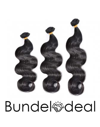Bundeldeal 3 bundels - remy bodywave weave bundels