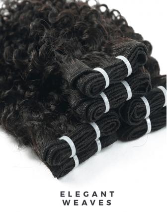 Bundeldeal 3 bundels - remy Kinky curl weave bundels