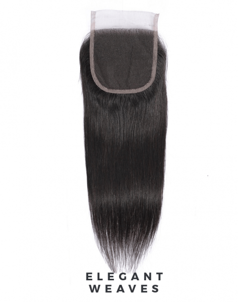 Straight weave middle part Lace Closure