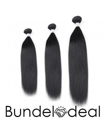 Bundeldeal 3 bundels - remy straight weave bundel